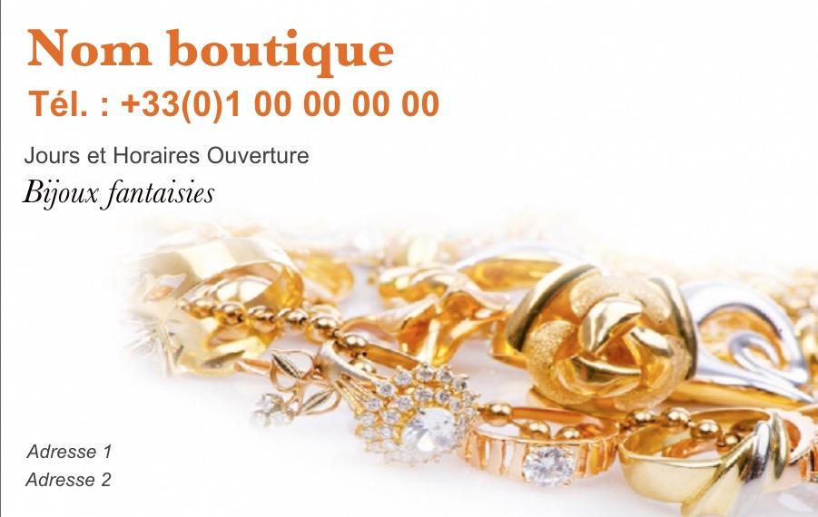 Modele Gratuit Carte De Visite Bijoutier Ideal Commerce Vente Bijoux Et Accessoires Mode A Imprimer Personnaliser En