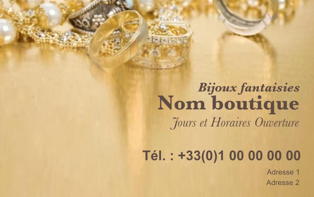 Modle Gratuit Carte De Visite Bijoutier Idal Commerce Vent Au Dtail Vente Bijoux Et Accessoires Mode