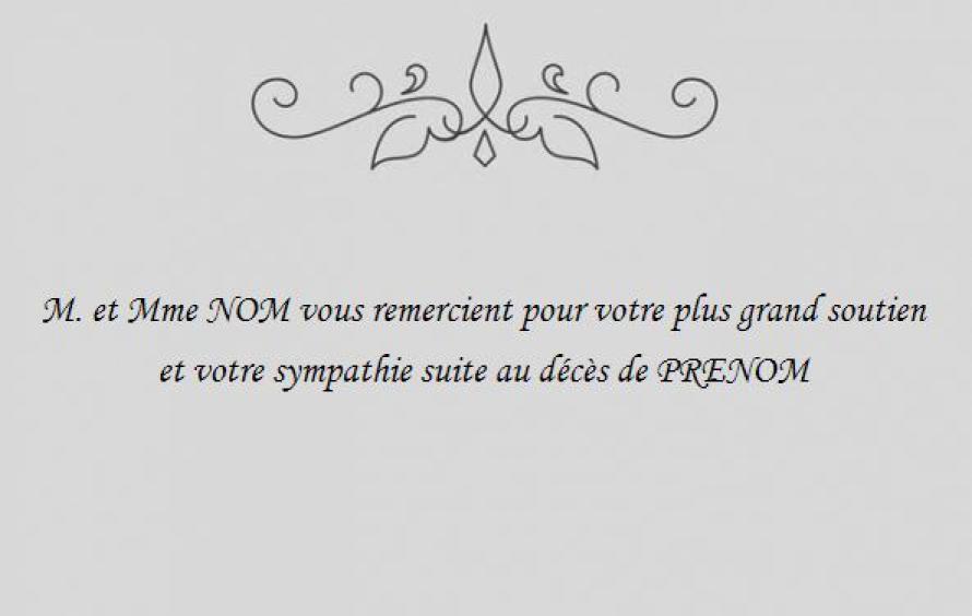 Beliebt Carte Condoléances Décès, avec texte Simple et modèle gratuit à  KF24