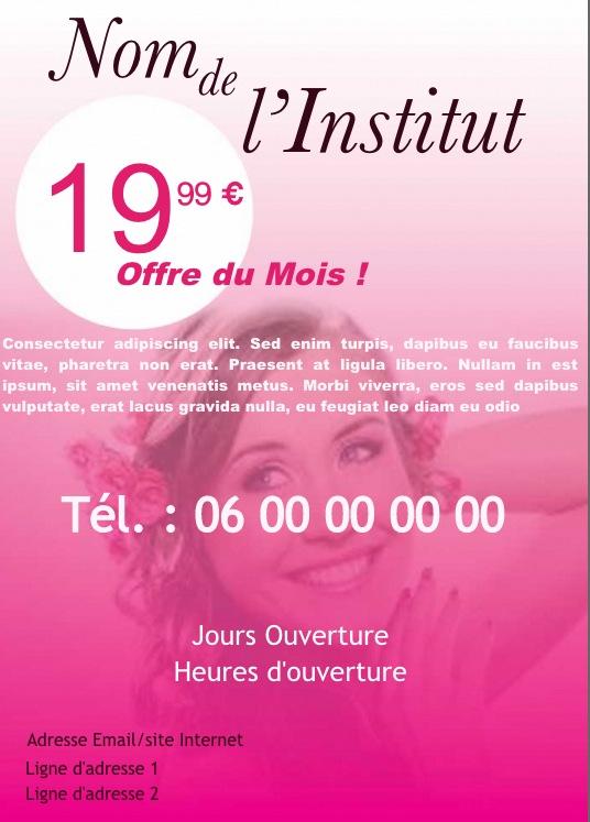 Très Salon Beauté, Soins, Exemple de flyer format A5 gratuit à  KM61