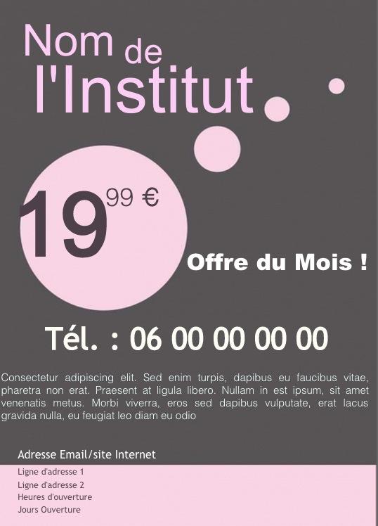 salon beaut u00e9  soins  exemple de flyer format a5 gratuit  u00e0 personnaliser  mod u00e8le couleur gris rose