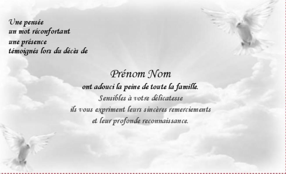 Cartes Remerciements Deces Gratuites à Imprimer Rwo13