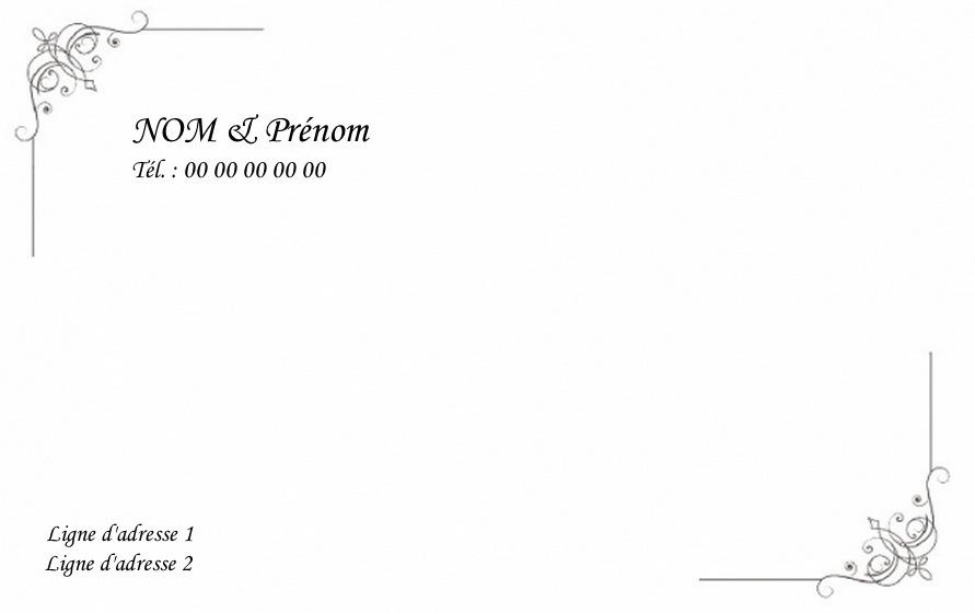 BModle Carte De Visite Gratuit Grand Format Personnaliser B Particulier Traditionnelle Classique