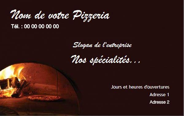 Impression Carte De Visite Pas Chere A Personnaliser Gratuitement Pour Pizzeria