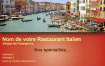 Modele Carte De Visite Restaurant Pour Pizza Italien Pizzaiolo A Personnaliser En Ligne