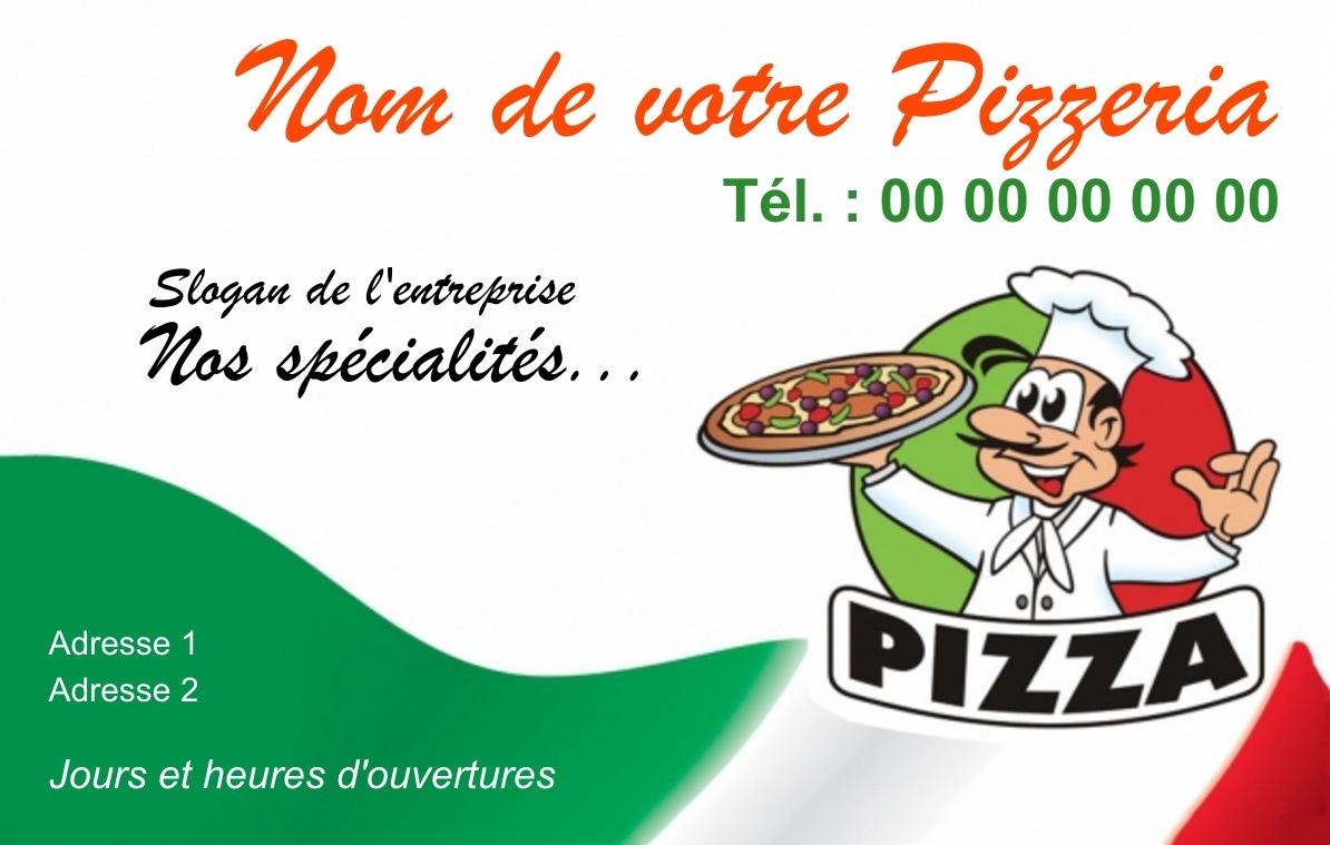 carte de visite pizzeria  u21d2 mod u00e8le gratuit  u00e0 personnaliser