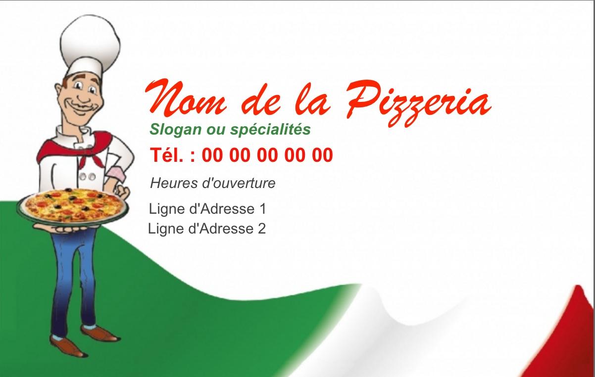 Exemple Carte De Visite Pizzeria Pour Service Restauration Cuisinier Livraison Pizza Domicile Modle Gratuit Personnaliser En Ligne Fond Pizzaiolo
