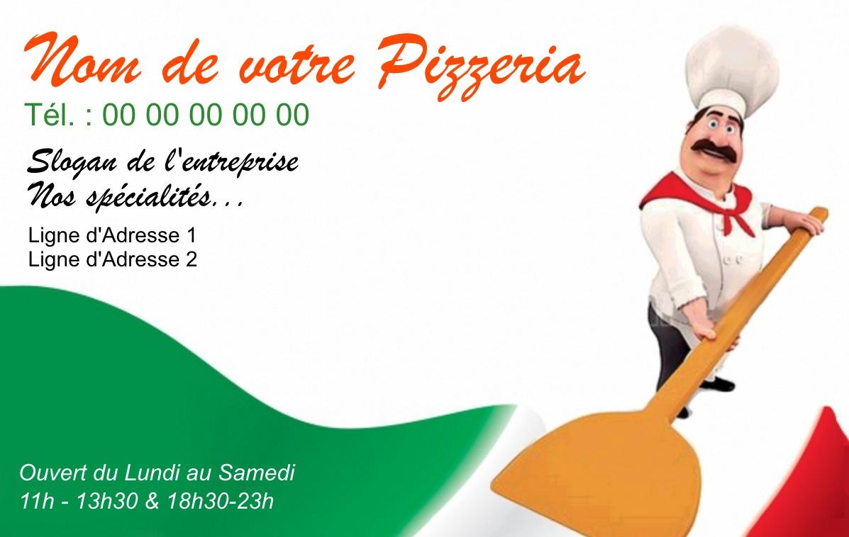 Exemple Carte De Visite Pizzeria Pour Service Restauration Cuisinier Livraison Pizza A Domicile Modele Gratuit Personnaliser En Ligne Fond Pizzaiolo