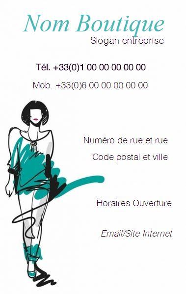 Couturiere Boutique De Vetement Lingerie Grande Taille Retouche Carte Visite Professionnelle Modele
