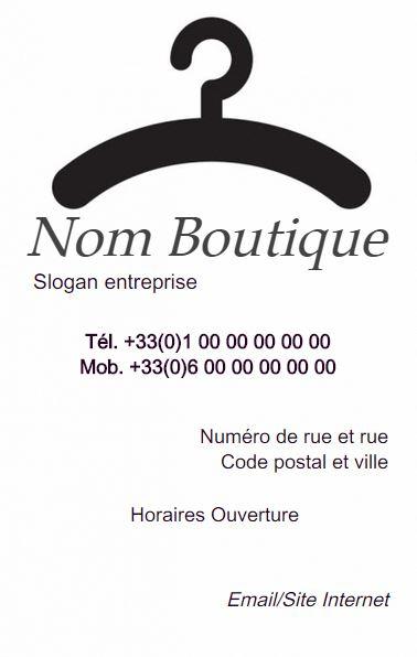 Boutique De Vtement Magasin Et Vente Grande Taille Lingerie Sur Mesure Carte Visite Couture Modle En Ligne