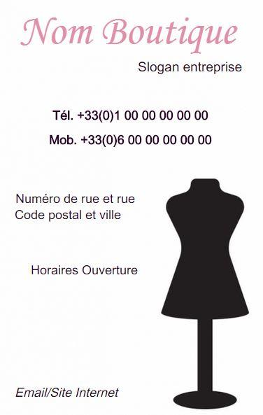 Couturire Et Boutique De Vtement Carte Visite Modle Disponible En Ligne Tlcharger Personnaliser