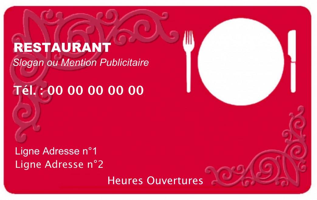 Modle Gratuit Carte De Visite Restaurant Idal Restauration Cuisine Domicile Service Traiteur Cuisinier Auto Entrepreneur A
