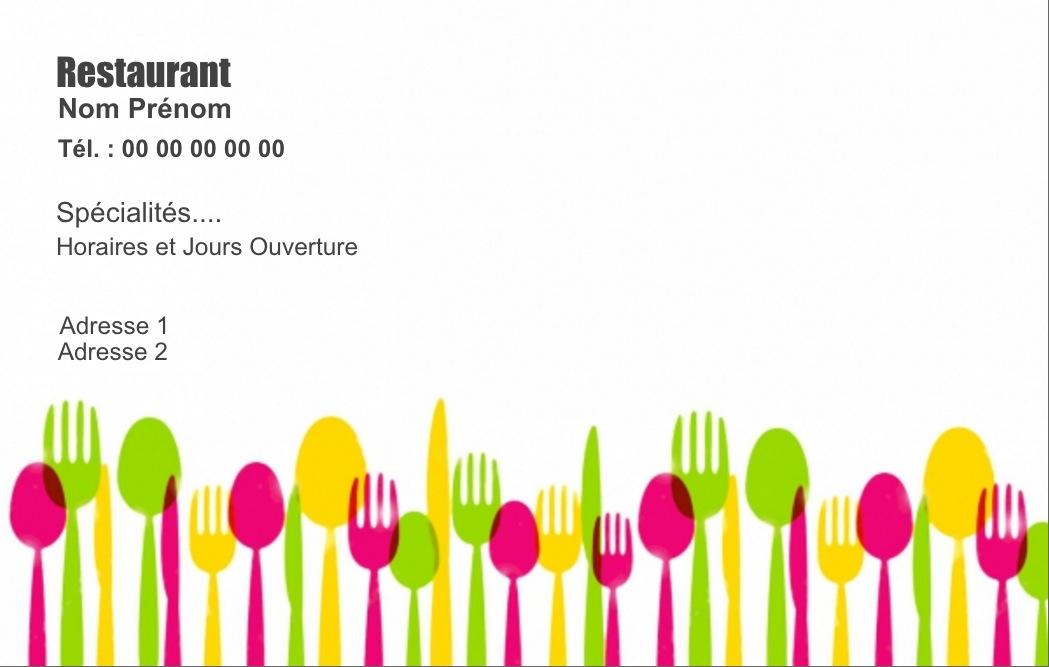 carte de visite restaurant  u21d2 mod u00e8le gratuit  u00e0 personnaliser