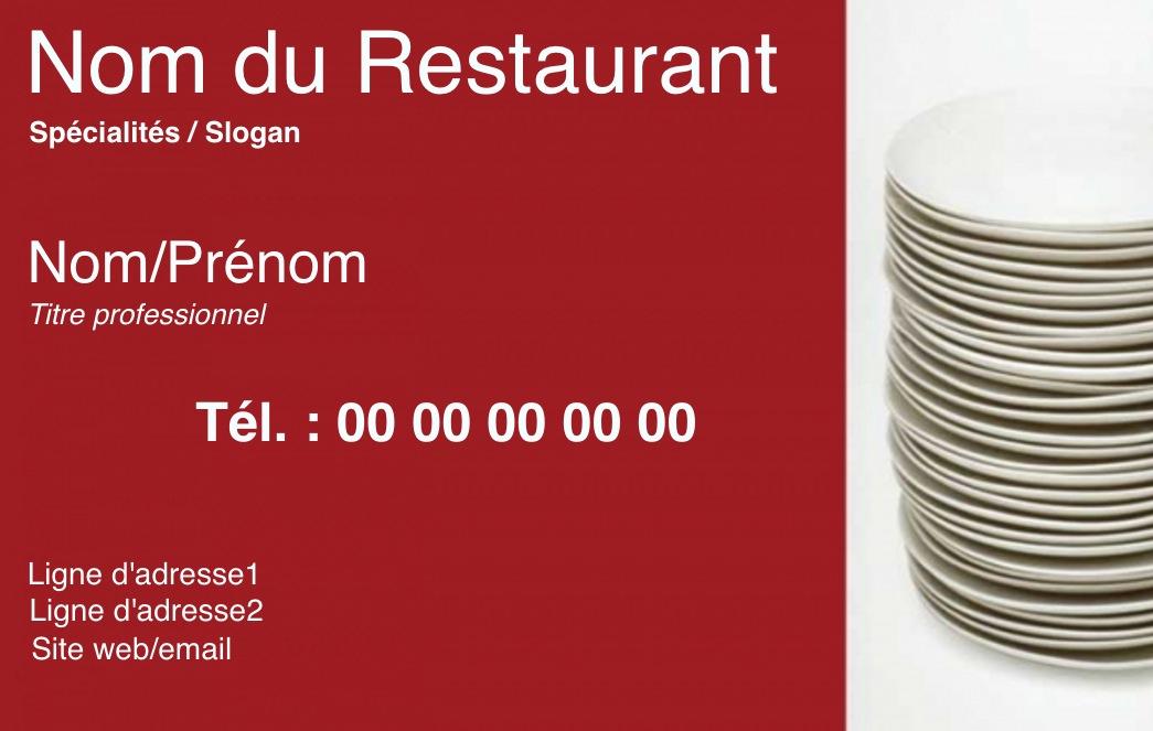 Exemple Carte De Visite Traiteur Pour Metier La Restauration En Restaurant Ou A Domicile Cuisinier Modele Gratuit Personnaliser Ligne