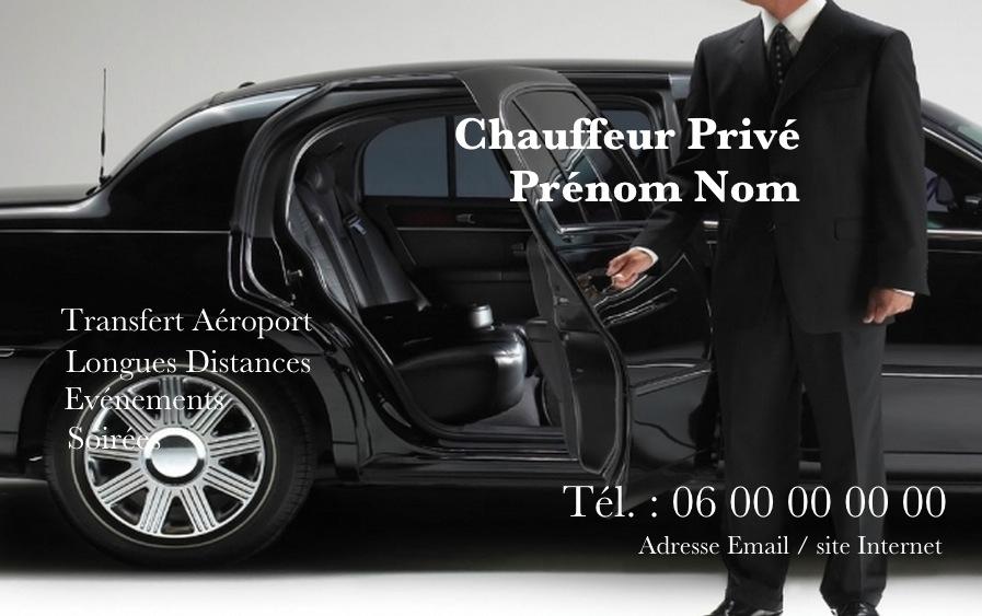Modele Carte De Visite Professionnelle Taxi Ou VTC Affaire Gratuit