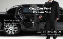 Modele Carte De Visite Taxi Pour VTC Vehicule Tourisme Avec Chauffeur Prive