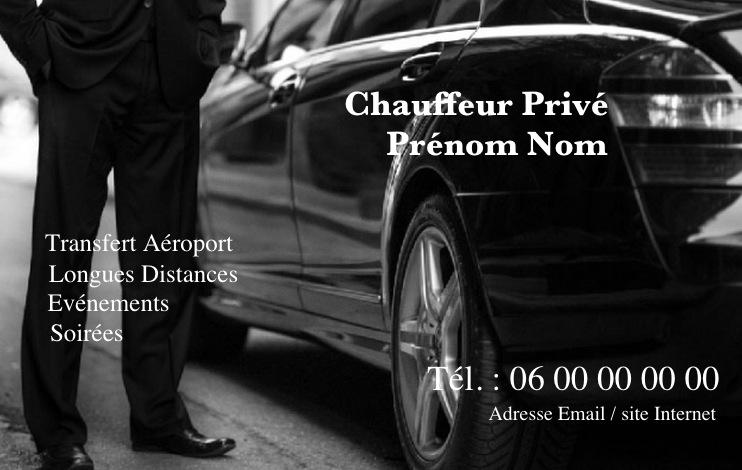 Exemple De Modele Carte Visite Taxi Ou VTC A Personnaliser Et Imprimer Pas Cher Affaire Gratuit Professionnelle