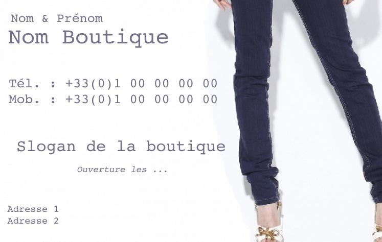Vetement Pour Femme Modele Gratuit Carte De Visite Boutique Jeans Ado