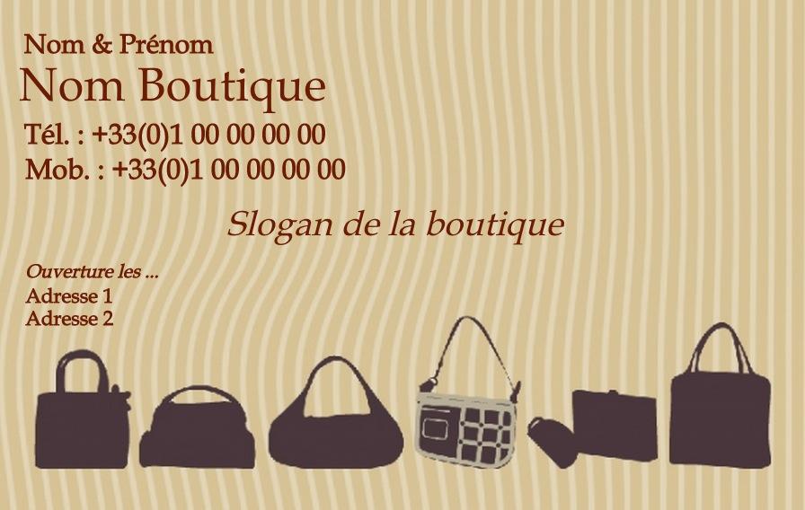 Maroquinerie Pour Femme Modele Gratuit Carte De Visite Boutique Sac A Main
