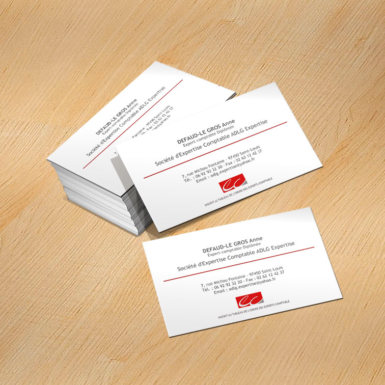 Exemple carte de visite comptable expert comptable avec - Impression photo gratuite sans frais de port ...