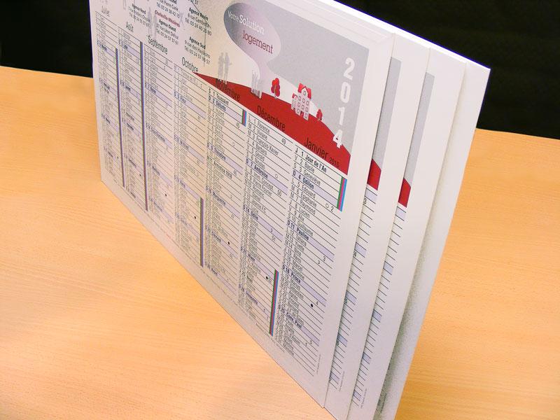 Calendrier Bancaire Personnalise.Calendrier Bancaire 32x45mm