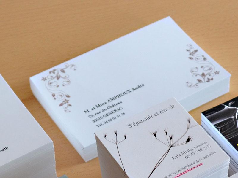 modèle de carte de visite familiale, une carte de visite grand format particulier