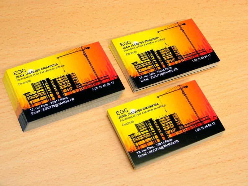 Carte De Visite Modle Construction Btiment