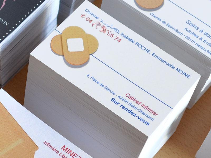 Carte De Visite Pansement Pour Cabinet Infirmiere Liberale Originale Rapide Et Pas Chere