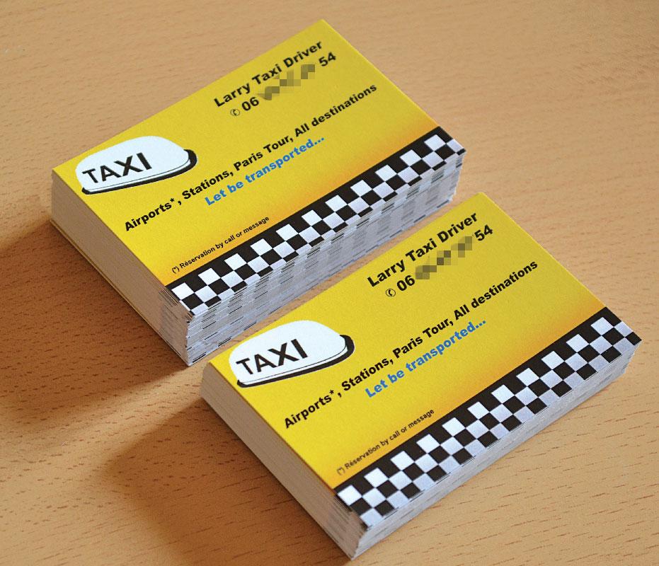 Carte De Visite Taxi Avec Modle Gratuit En Ligne