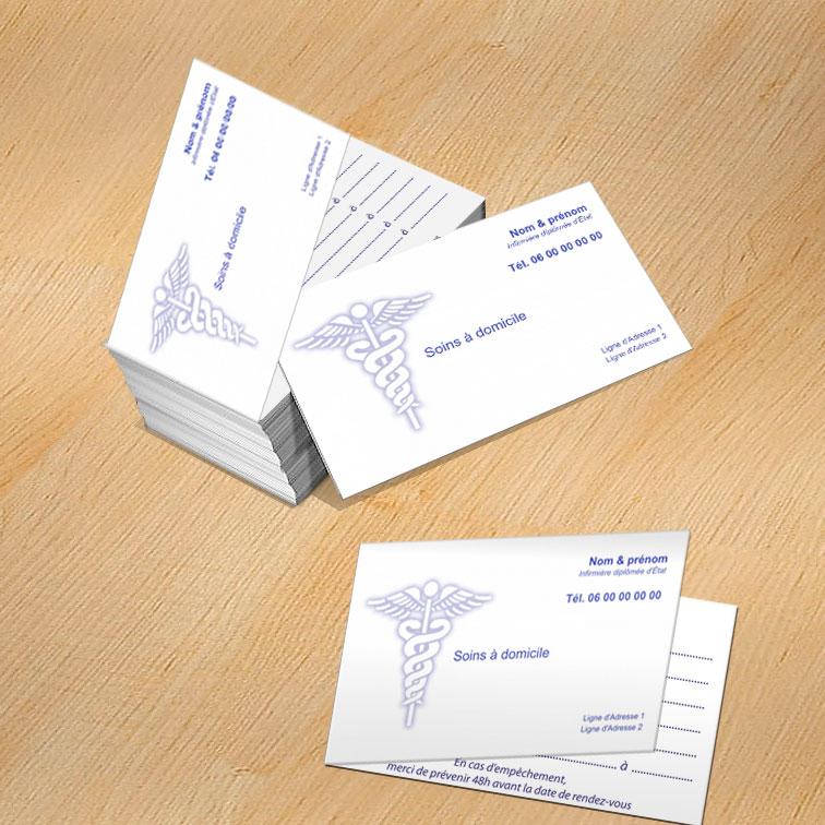 Exemple De Cartes Visite Doubles Ideal Pour Rendez Vous Cabinet Infirmier