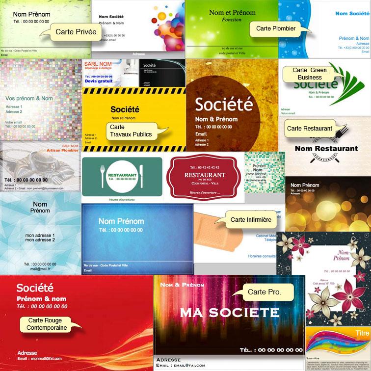 Exemple Modele Carte Visite Gratuit