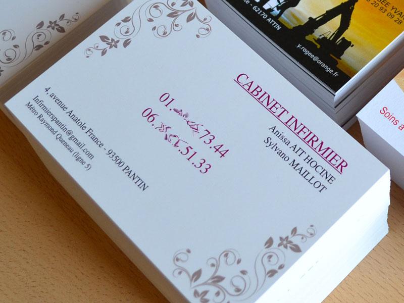 Grande Carte De Visite Cabinet Dinfirmiere Rapide Et Pas Cher