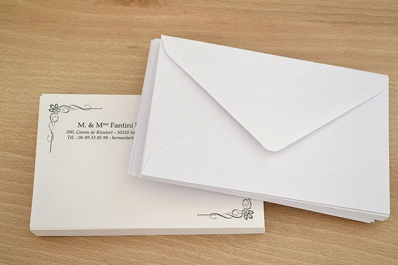 Carte De Visite Pas Cher Pour Particulier Avec Enveloppe