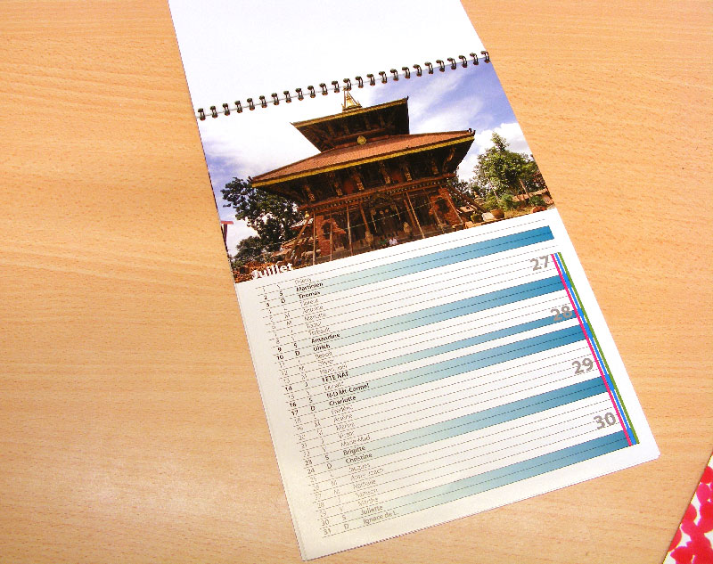 Calendrier Association Sportive Pas Cher.Calendrier Spirale Pas Cher Mural Personnalise Photo A5