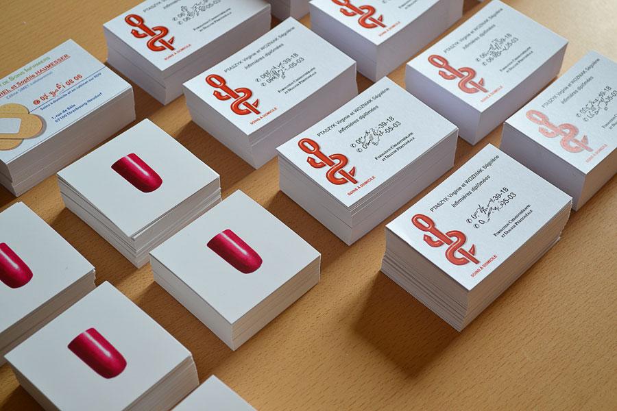 Un Exemple De Carte Visite Imprimee Avec Notre Solution Pour Creer Sa